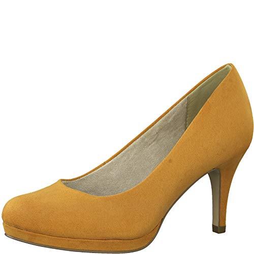 Tamaris Damen Pumps 22464-24, Frauen Plateaupumps, Oktoberfest Dirndl Wiesn Trachten-Schuh weibliche Lady Ladies,Sunset,36 EU / 3.5 UK