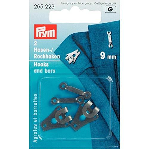 Prym 9mm Hosen- und Rock Haken/Bars, Schwarz, 2Stück