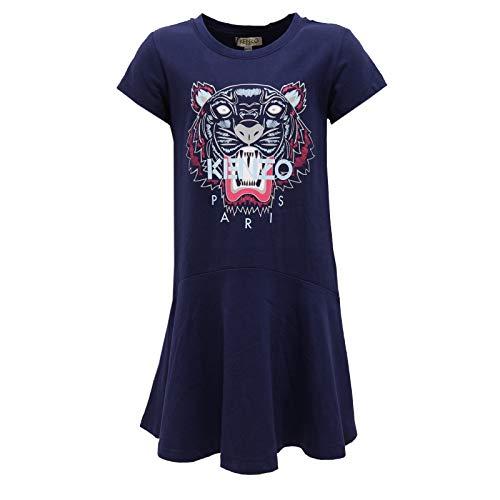 Kenzo 6563K Abito Bimba Girl Kids Vestito Cotton Blue Dress [10 Years]