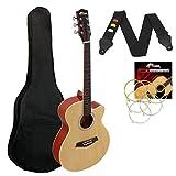 Tiger Guitarra Acústica Cuerpo Pequeño para Guitarra Principiante - Natural
