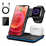 Wireless Charger,3 in 1 Fast Charging Station for Apple...