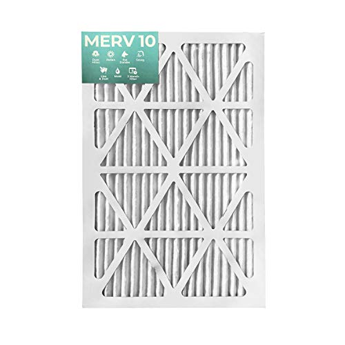 16x25x1 MERV 10 Pleated Air Filters for AC and Furnace. 12 PACK. Actual Size: 15-1/2 x 24-1/2 x 7/8