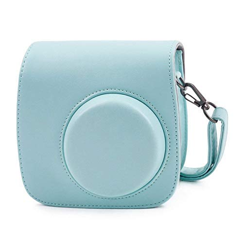 Funda para cámara Leyeet, Bolsa de Hombro para Fujifilm Instax Mini 8/8+ / 9 Instant Polaroid Camera (Color : Light Blue)