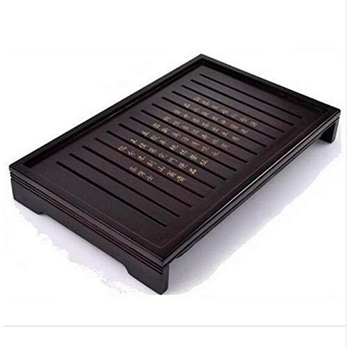 Juego de té Sólido Natural Bandeja de té de madera de madera rectangular Tradicional Puer Tea Bandeja de té Plato Servir (Color : Wooden pallets)