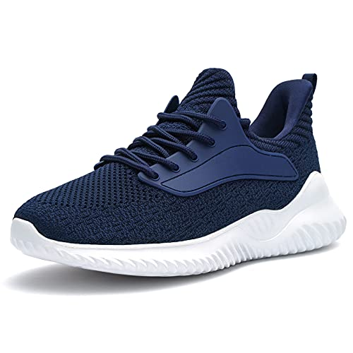 Akk Womens Walking Shoes Comfortable Lightweight Work Casual Tennis Shoes Sneakers for Indoor Outdoor Gym Travel 8 US Navy Blue