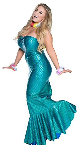 Delicate Illusions Plus Size Ocean Nymph Mermaid Womens Halloween Costume 4X (20-22) Turquoise