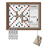 Scrabble Deluxe Vintage 2-in-1 Wall Edition with Dry Erase Message Board