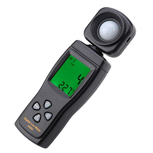 Beleuchtungsmessgerät, Fydun AS803 Tragbares Belichtungsmesser Digitales Beleuchtungsstärkemessgerät 200.000 Luxmeter Lichtmessung Photometer mit Schneller Reaktion und LCD Display