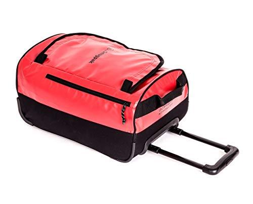 Snugpak | Roller Kitmonster Carry On 35L G2 | Holdall | 500D Polyester | Wheels & Telescopic handle (Red, 35L)