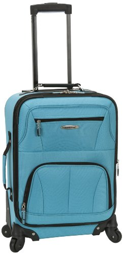 Rockland Pasadena Softside Spinner Wheel Luggage, Turquoise