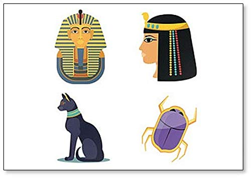 Imán para nevera con ilustración de símbolos egipcios famosos
