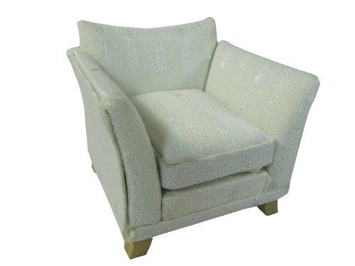Puppenmöbel Sessel im 2er Set für Puppenhaus weiß