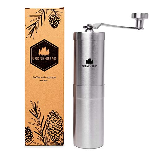 Groenenberg Macinacaffè Manuale, regoliable | Coffee Grinder in Acciaio Inossidabile (Inox) | Macinino da caffè Manuale - Facile da Usare e da Pulire