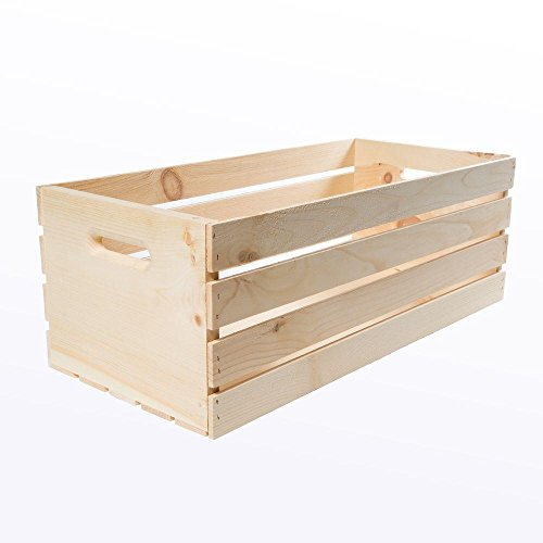 Houseworks,Crates and Pallet 27 in. x 12.5 in. x 9.5 in. X-Large Wood Crate Storage Tote Natural
