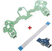Película Condutiva Controle Ps4 + Placa Usb Jds-001 + Flat