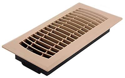 "Accord Ventilation APFRTPL410 Floor Register, 4"" x 10"", Taupe"