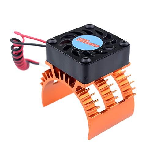 JAP768 Motor del disipador de Calor y refrigeración Fit Ventilador for 1/10 RC Car 540/550 3650/3660 3665 Motor (Color : Orange)