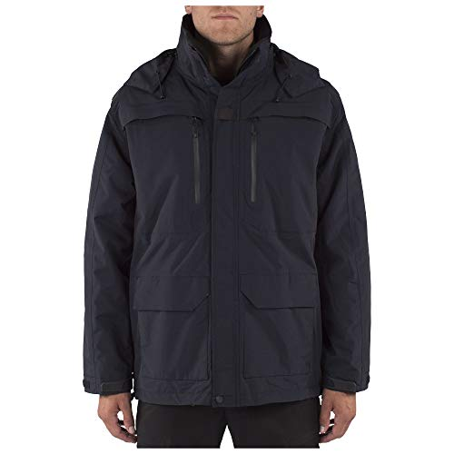 5.11 Tactical Men's First Responder Jacket, Modular 5-in-1 All-Weather Protection, Dark Navy, Medium, Style 48197
