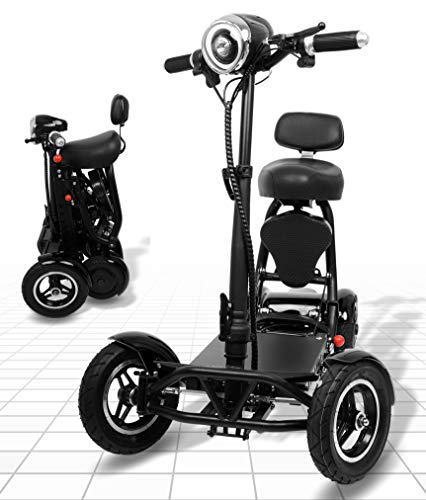 Foldable Mobility Scooter for Adults and Seniors, Lightweight & Long Range Four Wheel Mobility...