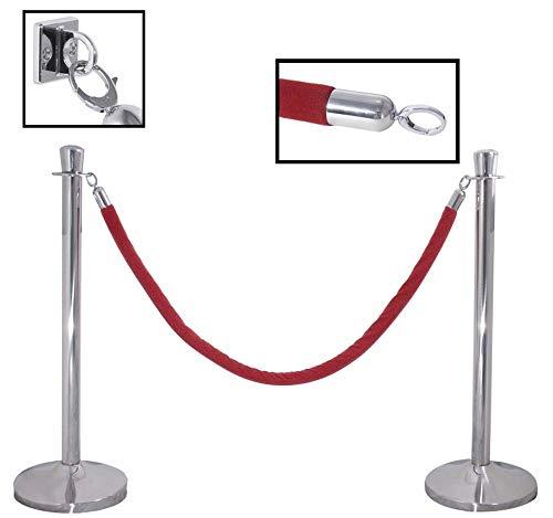Contacto 1 Stück Edelstahl Absperrpfosten, Abgrenzungspfosten, 95 cm hoch, 50 cm Fuß-Durchmesser, ohne Seil