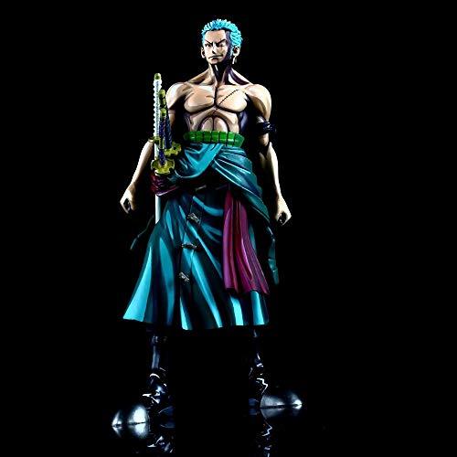 SDUYTEG EIN STÜCK Sieben Comic Farbe Roronoa Zoro Strohhut Pirat Schwertkämpfer MSP Boxed Figure Spielzeuggeschenk Aus PVC-Material