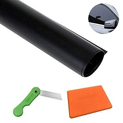 Feuille solaire de voiture 300 cm de film pour teinter les vitres de voiture auto-adhésive avec grattoir et cutter
