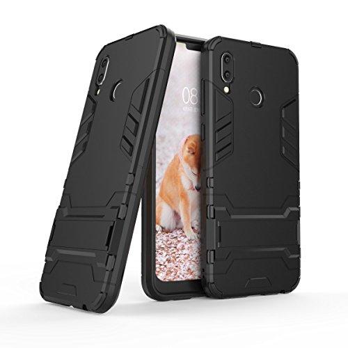 TenYll Huawei Honor Play Cover [Supporto] Hybrid Dual Layer TPU+PC Custodia, Durevole Manicotto Protettivo Antiurto,Per Huawei Honor Play -Nero