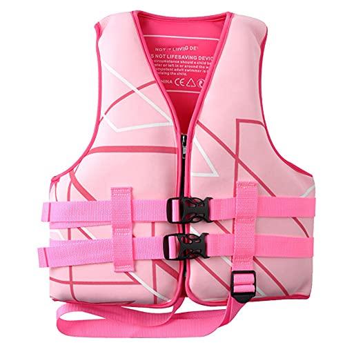 Chaleco Salvavidas Niños Flotación Portátil Ayuda de la Nadada Vest Flotabilidad Equipamiento Chico Chica para Deportes Acuáticos Kayak Canotaje Snorkel,Pink