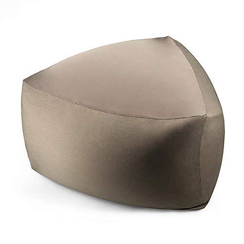 noyydh Bean Bag Tatami Lazy Sofá Sillón de Tela Sillón Dormitorio Dormitorio Sala de Estar Silla cómoda Desmontable y Lavable 80 × 45 cm (Color : Silver Grey)
