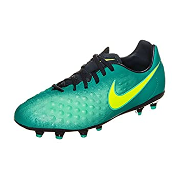 Nike Kids Magista Opus II FG Rio Teal/Volt/Obsidian/Clear Jade Soccer Shoes - 11.5C