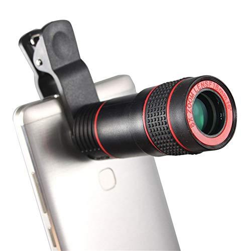 Jklt Exquisito telescopio de alta potencia HD visión nocturna bolsillo mini universal teleobjetivo 8x teléfono móvil monocular excelente textura (color: negro, tamaño: M)