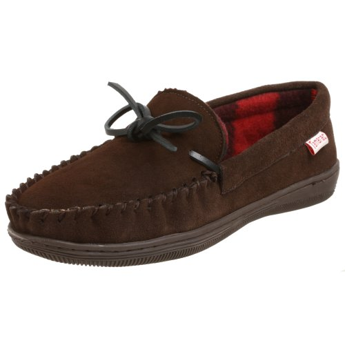 Tamarac by Slippers International 7161PF Men's Trailer Moccasin,Rootbeer,10 D(M) US