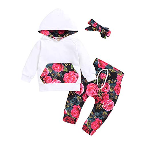 Kfnire - Camiseta de manga corta para niña con capucha, diseño de leopardo Fiori 12-18 Meses
