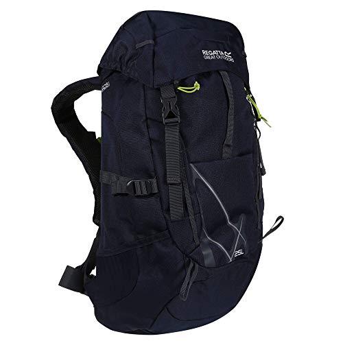 Regatta Kota Expedition Padded Hydration Reflective Travel Hiking Backpack - Navy Blazer, 35 Litre