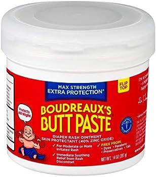 Boudreaux's Butt Paste Maximum Strength Diaper Rash Ointment 14 Oz Jar