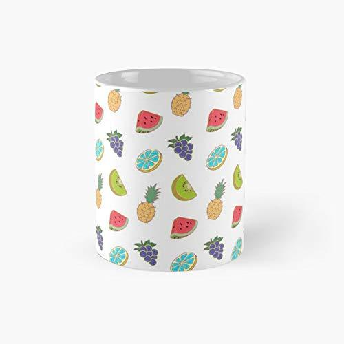 Taza clásica de frutas de sabor rojo mejor regalo tazas de café divertidas 11 oz