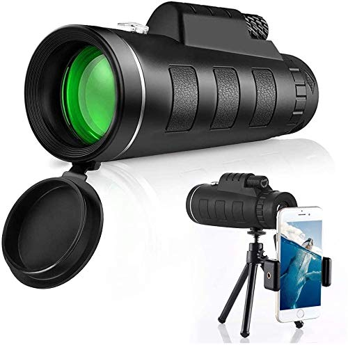 Monocular Telescope,40X60 High Power HD Monocular With Smartphone Holder & Tripod Waterproof With For Bird Watching Camping Hiking Match Traveling Wildlife Telescopes