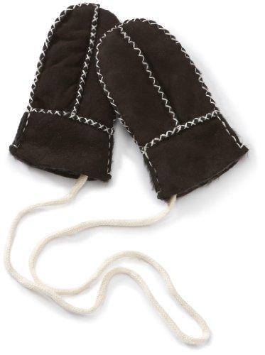 Playshoes Unisex - Baby Fäustling 106101 Lammfell-Handschuhe / Fäustlinge Handgearbeitet, Gr. 0.5 (0-6 Monate), Braun (Dunkelbraun)