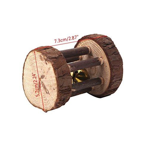 PULABO Natürliches Holz, Das Die Übungs-Spielzeugrolle Für Haustier-Kaninchen-Hamster-Ratte Kaut Spielen Sie Neue Zuverlässige Leistung Hohe Qualität,Sicherheit
