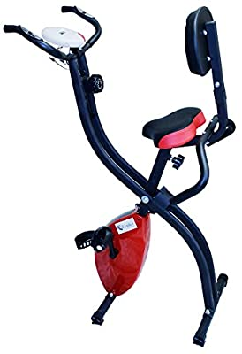 Kemket Folding Magnetic Exercise Bike X-Bike Fitness Cardio Workout Weight Loss Machine by Kemket