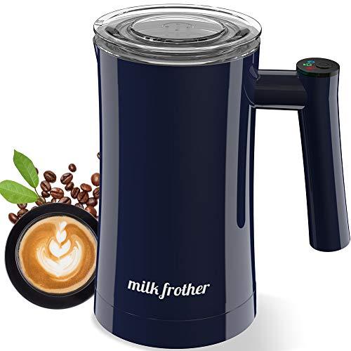 Montalatte Elettrico, Montalatte Automatico in Acciaio Inossidabile, Facile da Pulire, per Latte Caldo e Freddo, Caffè, Cappuccino, Cioccolata Calda
