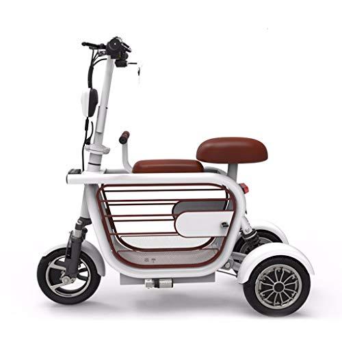 mächtig der welt CMNAN Zusammenklappbarer elektrischer Dreirad-Roller, elektrisches Dreirad für Erwachsene, Farb-LCD-Ausrüstung…