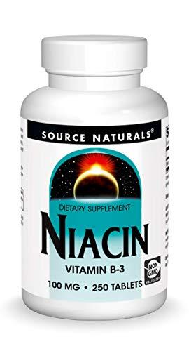Source Naturals Niacin, Vitamin B-3 100 mg Dietary Supplement - 250 Tablets