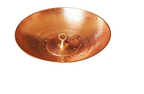 u-nitt 40,6cm reines Kupfer Waschbecken/Schale/Gericht für Regen Kette: mit Befestigungsschlaufe: # 976