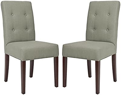 Safavieh Mercer Collection Derek Linen Side Chairs, Grey, Set of 2