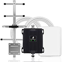65dB Cell Phone Signal Booster for Home Office - Boost 4G LTE Data for Verizon and AT&T | Dual Band 12/17/13 Cellular Repeater with High Gain Panel/Yagi Antennas | Up to 5,000 Sq Ft Area