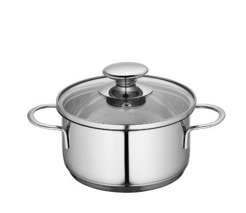 Küchenprofi 2370702814 Edelstahl-Topf mit Glasdeckel