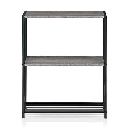 Furinno Modern 3-Tier Storage Shelve, French Oak Grey