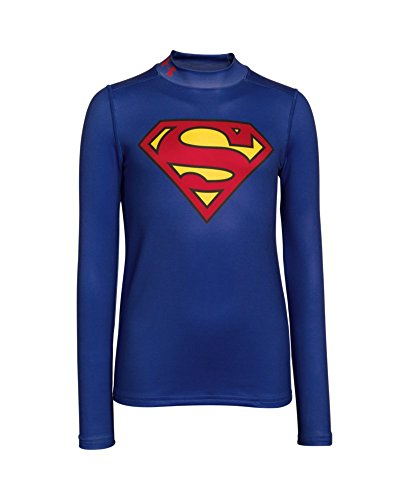 Under Armour ColdGear Superman Alter Ego Mock Trainingsshirt Kinder YSM - 128