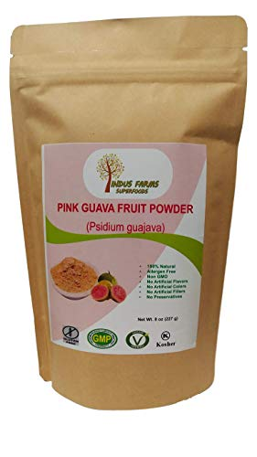 100% Natural Pink Guava Fruit Powder, 8 oz, Eco-friendly Resealable pouch, No Artificial Flavors/Preservatives/Fillers, Halal, Vegan-Friendly, Non-GMO